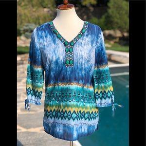 Dress barn size S tunic shirt  with jewels